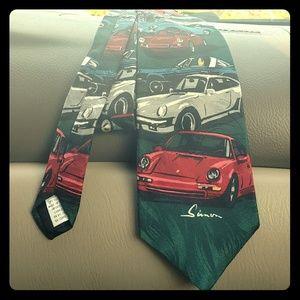 Ralph Marlin Vintage Porsche Tie